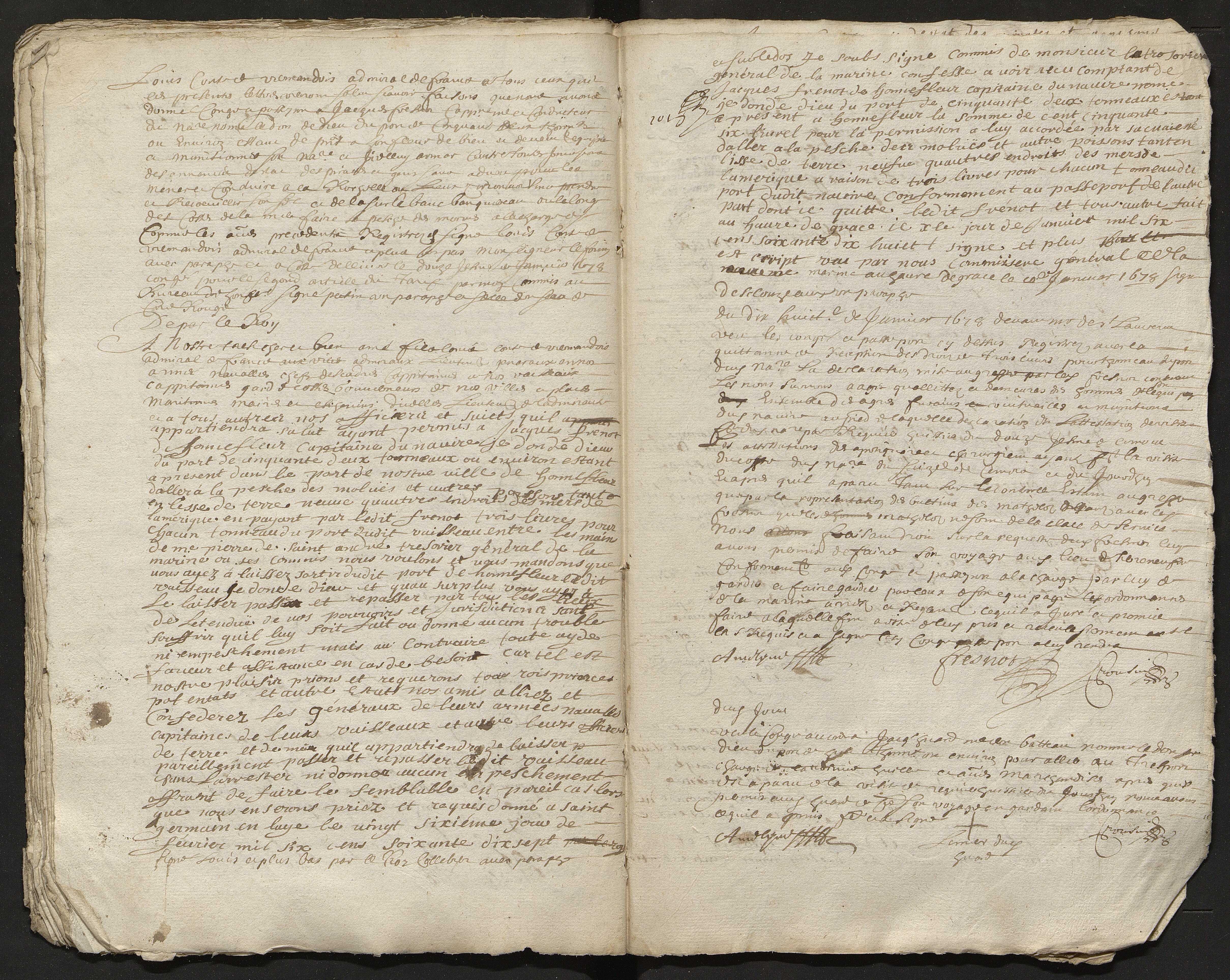 3 septembre 1674-27 septembre 1679