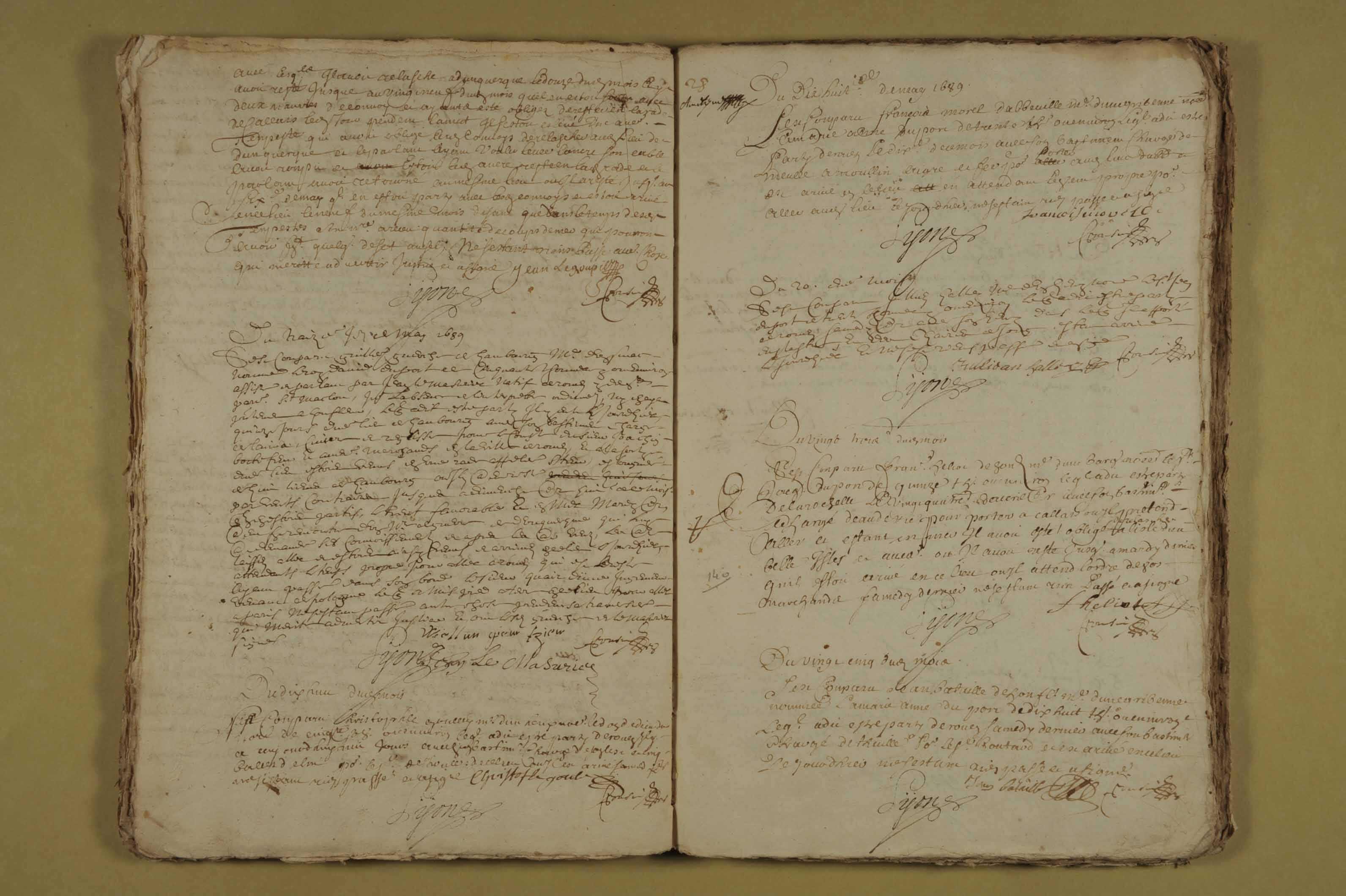 1er décembre 1688-30 décembre 1690
