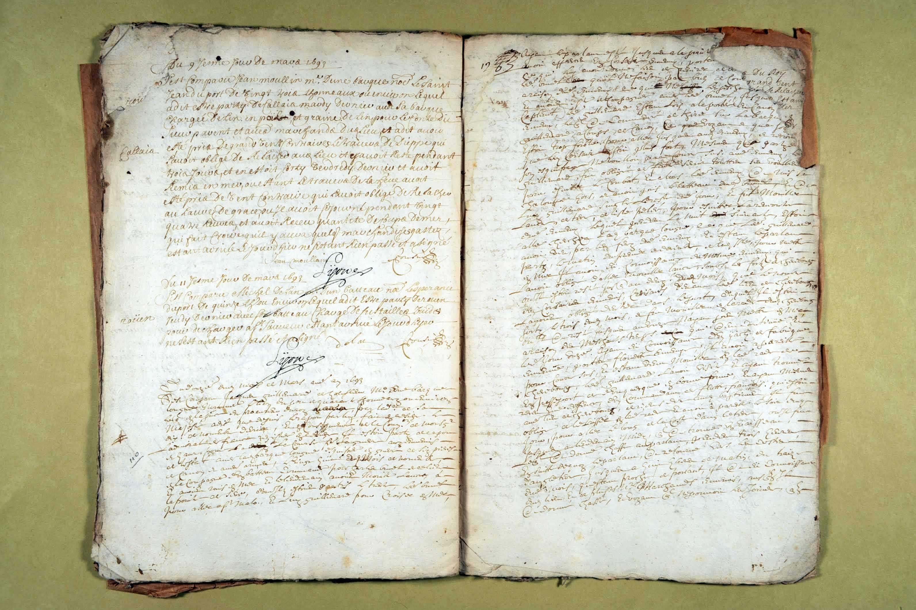 7 octobre 1692-2 avril 1693