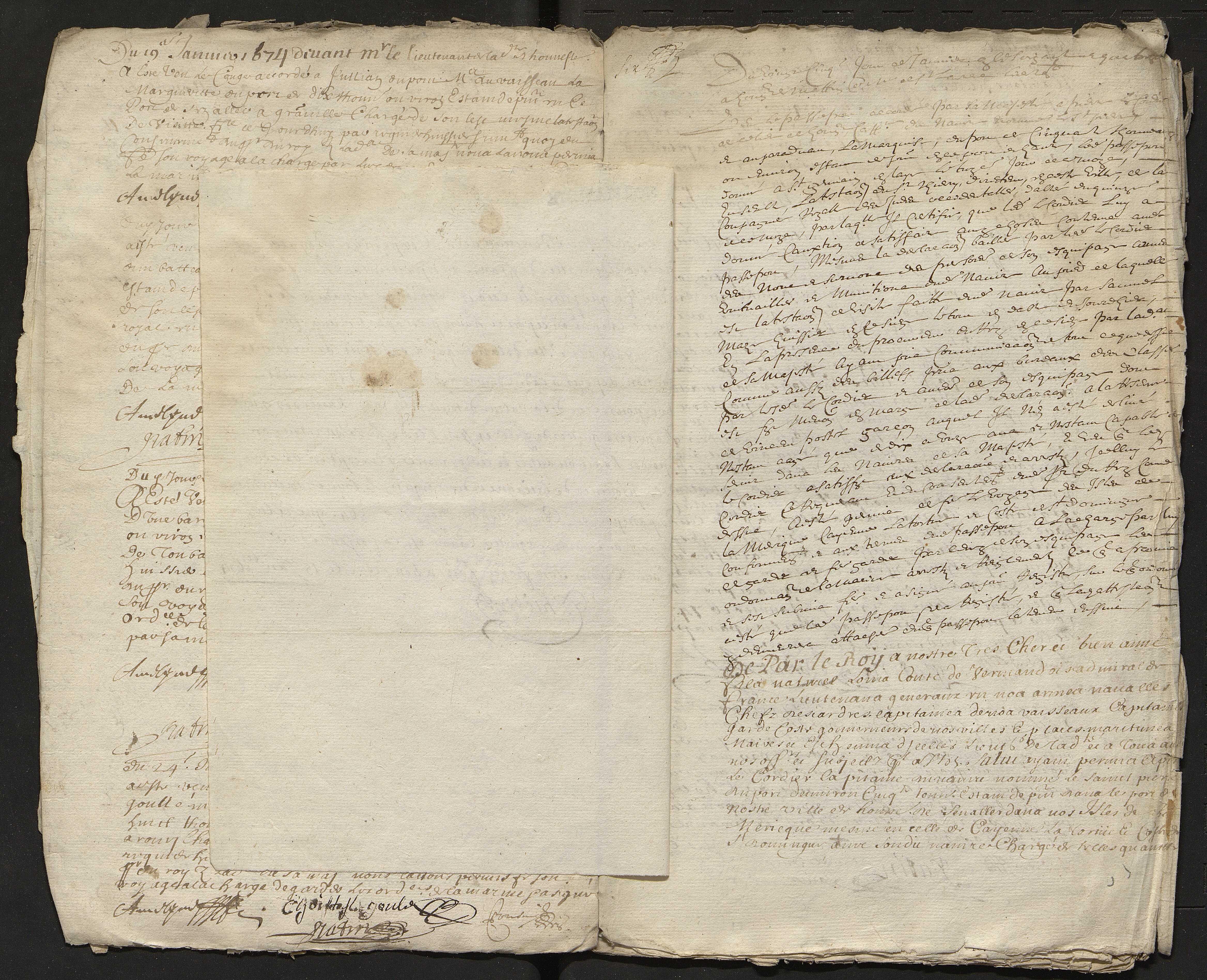 3 octobre 1673-29 août 1674