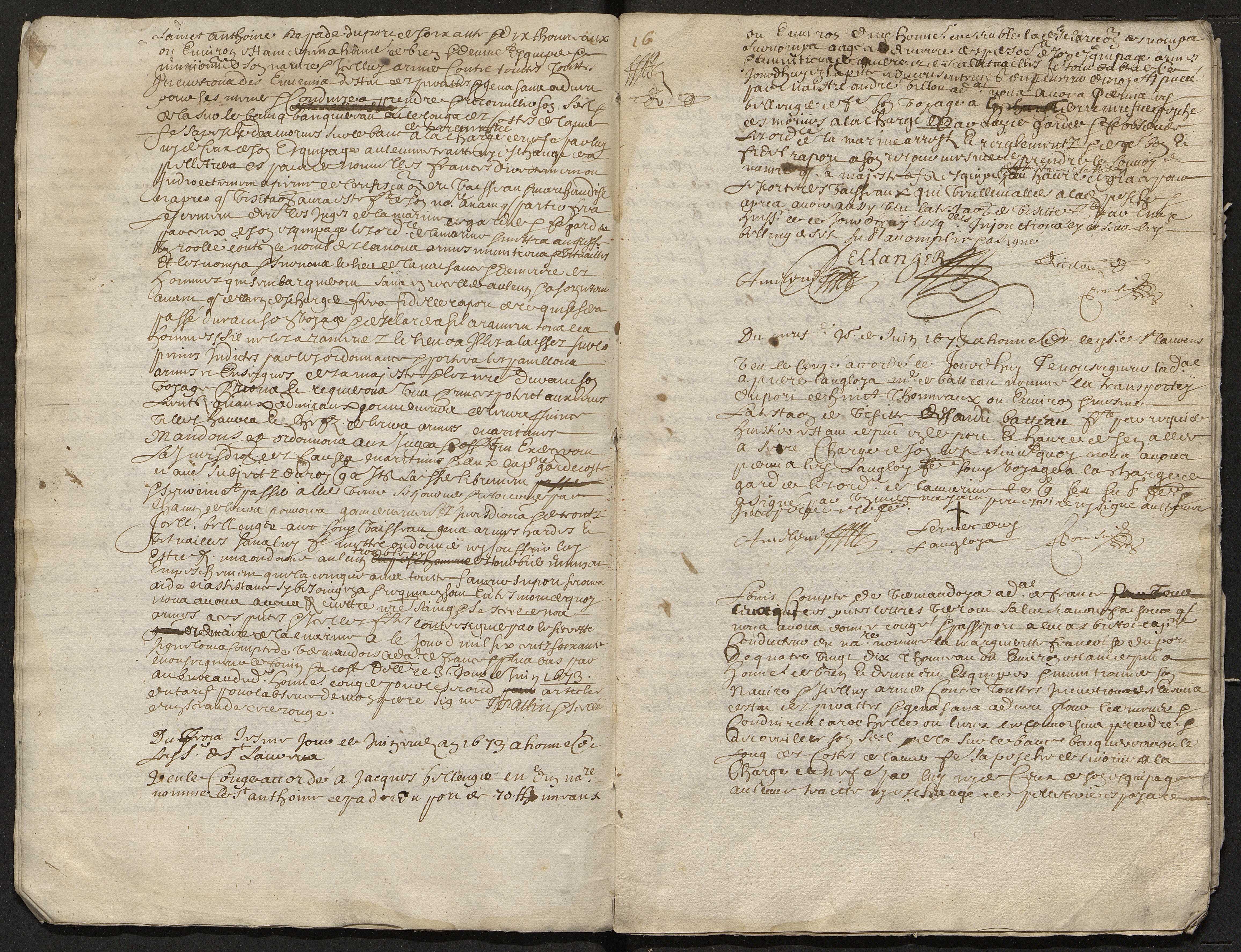 14 janvier-3 octobre 1673