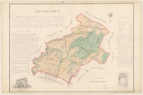 Planquery. Carte, notice, production, chapelle, dessins