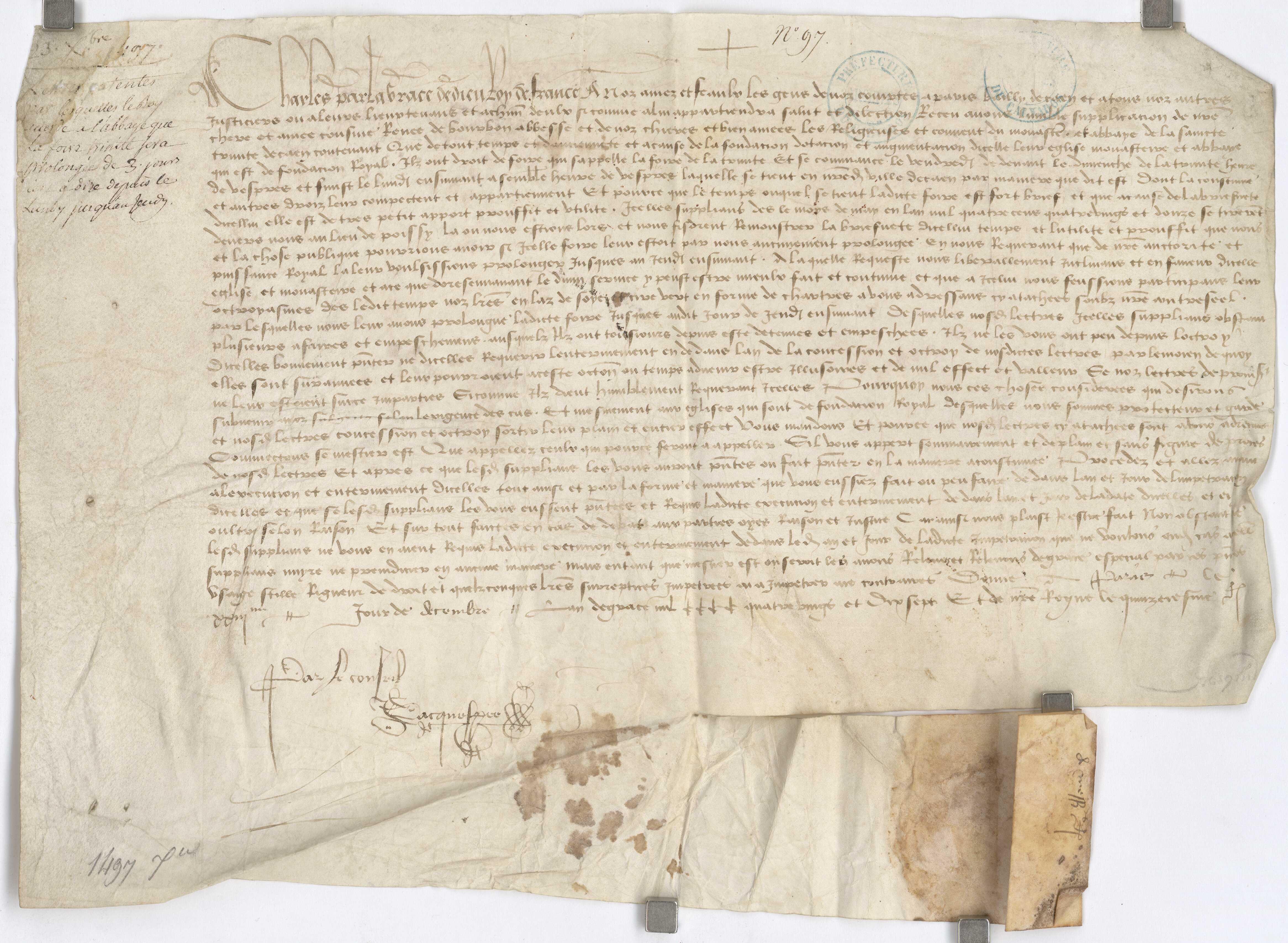 Charles VIII sur la foire de l'abbaye