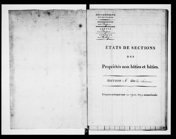 état de section