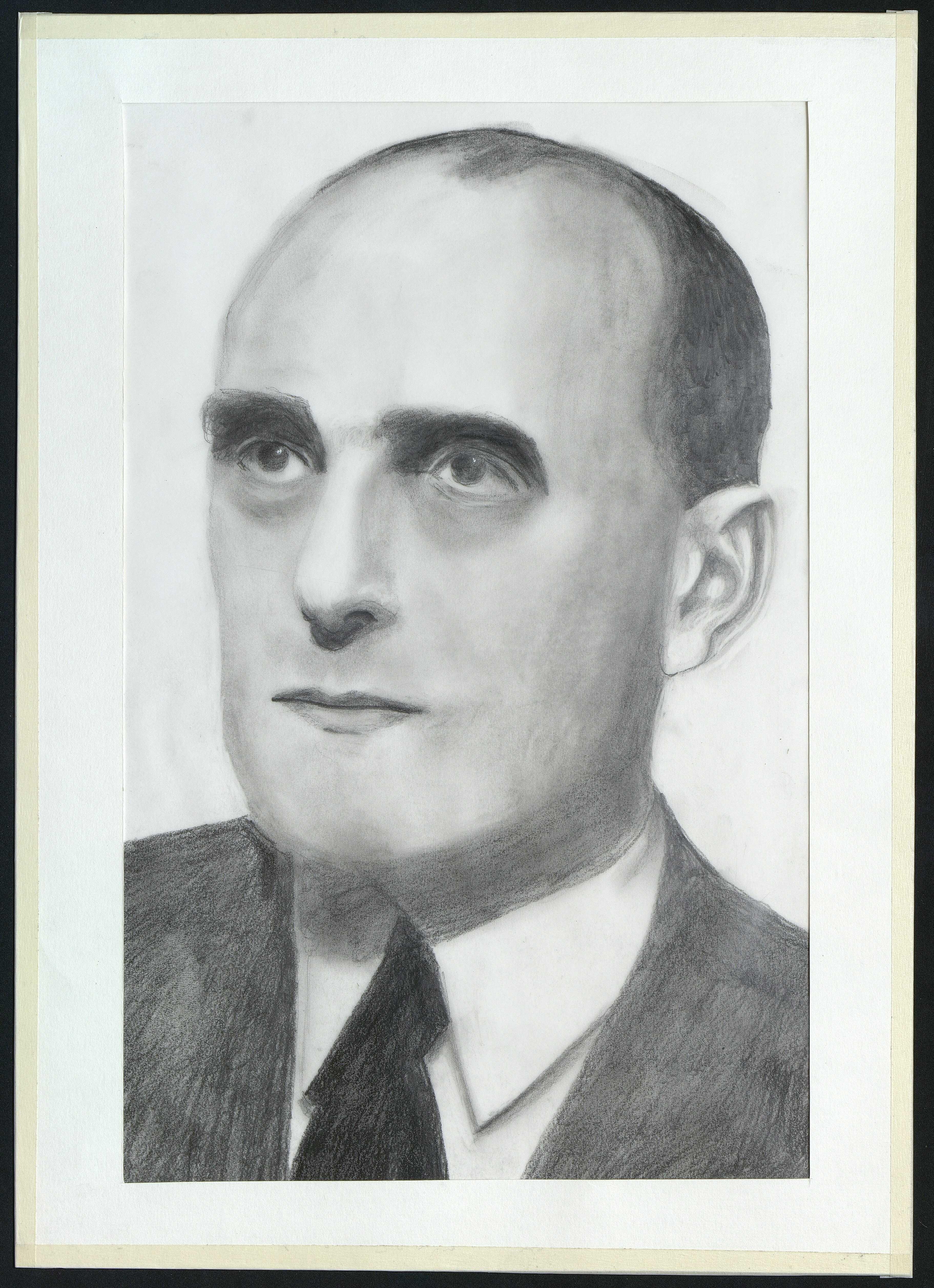 9 : portrait de Michel de Boüard par Gratien Mouget