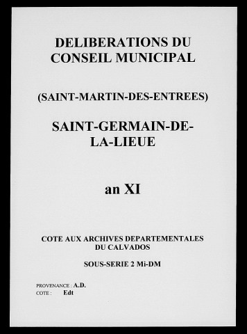 Saint-Germain-de-la-Lieue 1802-1872